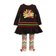 Bonnie Jean® Turkey Tunic and Leggings - Preschool Girls 4-6x