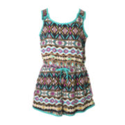 Pinky Tribal-Print Romper - Preschool Girls 4-6x