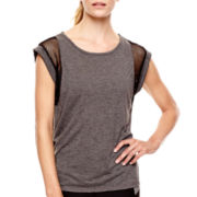 Xersion™ Mesh Mixed Media Muscle T-Shirt - Tall