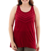 Arizona Lace Tunic Tank Top - Plus