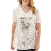 City Streets® Short-Sleeve Tunic T-Shirt - Juniors Plus
