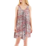 Decree® Sleeveless Handkerchief-Hem Tunic Dress