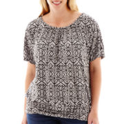 Alyx® Dolman-Sleeve Print Knit Top - Plus