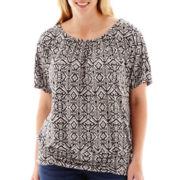 Alyx® Dolman-Sleeve Print Knit Top - Plus