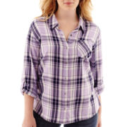 Arizona Long-Sleeve Plaid Shirt - Plus