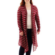 Arizona Long-Sleeve Striped Duster - Juniors Plus