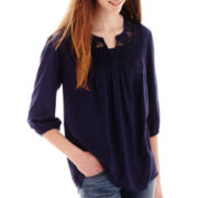 Arizona 3/4-Sleeve Woven Lace Tunic