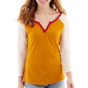 Arizona 3/4-Sleeve Colorblock Baseball T-Shirt
