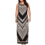 Studio One Sleeveless Embellished Neck Maxi Dress - Plus