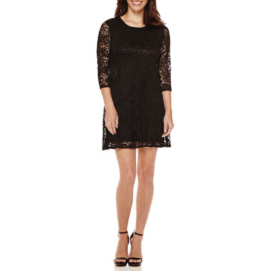 jcpenney.com | Tiana B. 3/4-Sleeve Lace Trapeze Dress - Petite