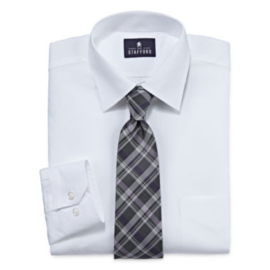 jcpenney.com | Stafford® Travel Easy-Care Dress Shirt and Tie Set - Big And Tall