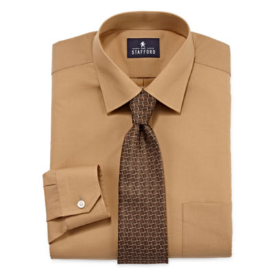 Stafford travel easy care dress shirt and tie set big for Where to buy stafford dress shirts