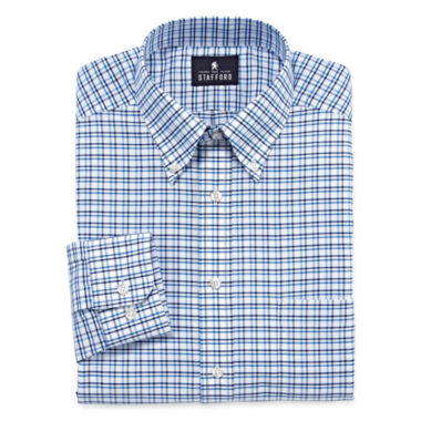 jcpenney.com | Stafford® Long-Sleeve Wrinkle-Free Oxford Travel Dress Shirt - Big & Tall