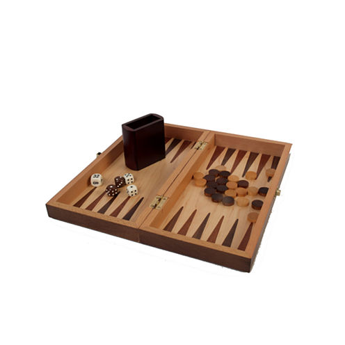 Walnut Wood Inlaid 3-In-1 Game Set