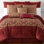 Royal Velvet® Malaga 4-pc. Jacquard Comforter Set