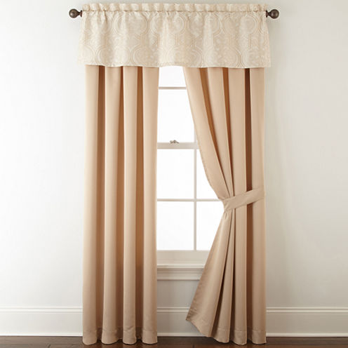 Royal Velvet® Palladio 2-Pack Rod-Pocket Lined Curtain Panels
