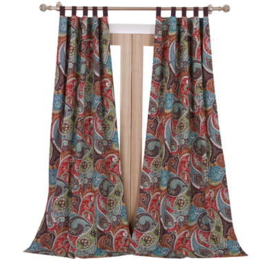 jcpenney.com | Greenland Home Fashions Tivoli 2-pk. Tab-Top Curtain Panels