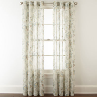 jcpenney home bismarck grommettop sheer curtain panel - Sheer Curtain Panels