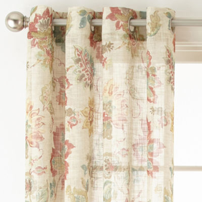 Jcpenney Home Bismarck Grommet Top Sheer Curtain Panel