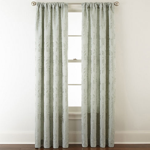 Home Expressions™ Ardsley Leaf Rod-Pocket/Back-Tab Curtain Panel