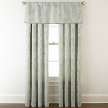 jcpenney.com | Home Expressions™ Ardsley Leaf Rod-Pocket/Back-Tab Window Treatments