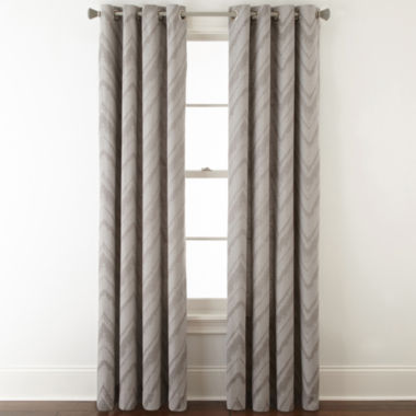 jcpenney.com | Studio™ Painterly Chevron Grommet-Top Curtain Panel