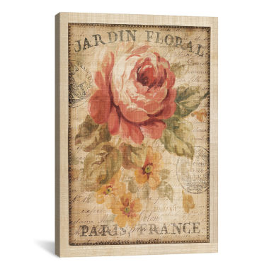jcpenney.com | iCanvas® Parisian Flowers II By Danhui Nai Canvas Wall Art