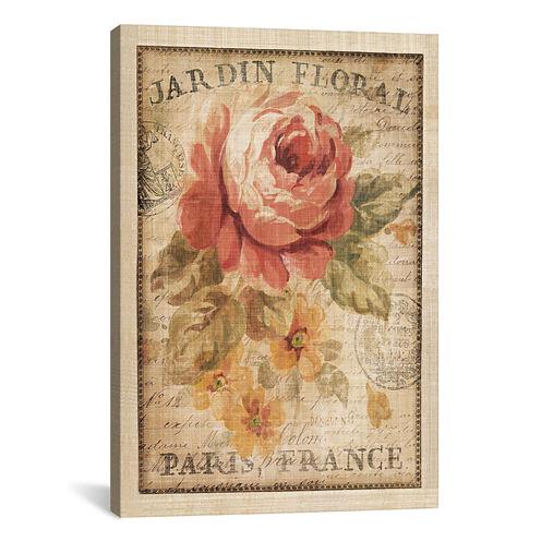 iCanvas® Parisian Flowers II By Danhui Nai Canvas Wall Art