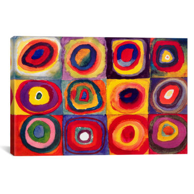 jcpenney.com | Squares With Concentric Circles by Wassily Kandinsky Canvas Wall Art