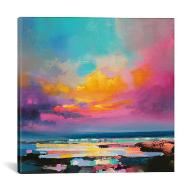 "jcpenney.com | iCanvas® Diminuendo Sky Study II by Scott Naismith 26x26"" Canvas Print"