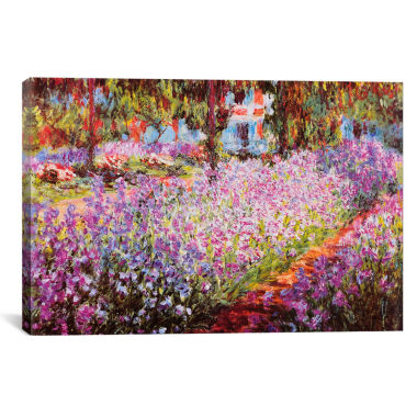jcpenney.com | Jardin De Giverny by Claude Monet Canvas Wall Art