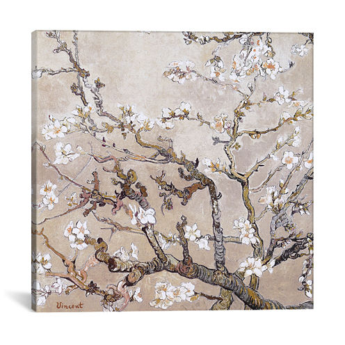 Almond Branches In Bloom San Remy, C. 1890 by Vincent Van Gogh Canvas Wall Art