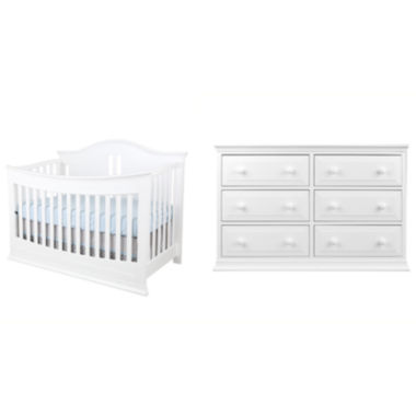 jcpenney.com | Rockland Austin 2-pc. Baby Furniture Room Package - Bright White