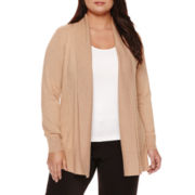 Worthington® Long-Sleeve Essential Cardigan - Plus