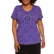 Made for Life™ Vintage Paisley Graphic Layered Top - Plus