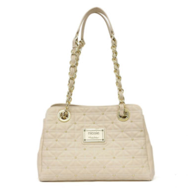 jcpenney.com | nicole by Nicole Miller® Suzie Quilted Tote with Studs