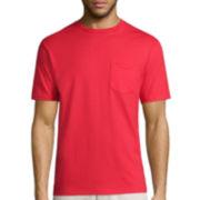 St. John's Bay® Short-Sleeve Slim-Fit Legacy Basic Pocket Tee
