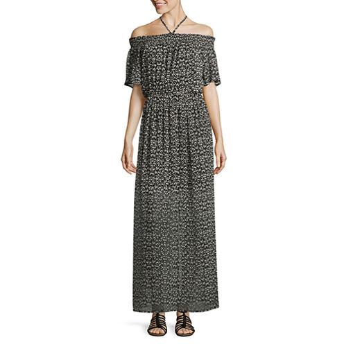 As U WishOff The ShoulderMaxi Dress-Juniors