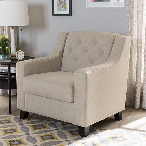 Baxton Studio Arcadia Tufted Club Chair