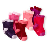 Joe Fresh™ 6-pk. Striped Crew Socks - Girls newborn-24m