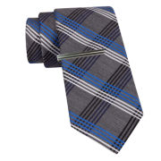 JF J. Ferrar® Plaid Slim Tie