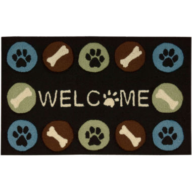 jcpenney.com | Nourison® Paw Print Utility Rectangular Rug