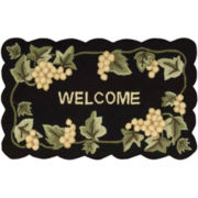 Nourison® Grapes Utility Rectangular Rug