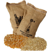 Farm Fresh Burlap Popcorn Kernel Bags - Set of 4
