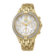 Seiko® Womens Gold-Tone Excelsior Solar Watch SSC876