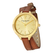 Stührling Womens Tan Leather Strap Watch