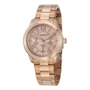 Stührling Womens Rose-Tone Bracelet Watch