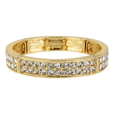 jcpenney.com | Worthington® Gold-Tone Two-Row Crystal Bangle