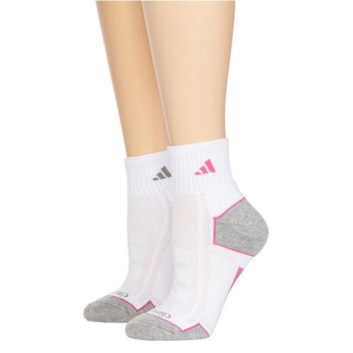 adidas® 2-pk. climacool® Quarter Socks