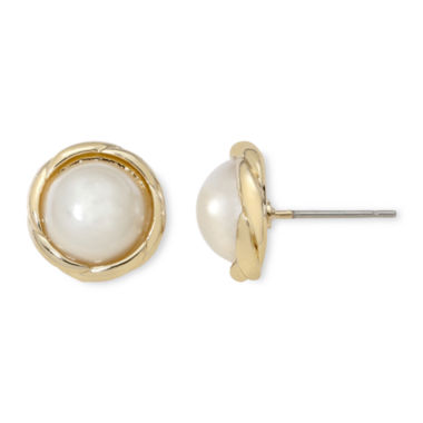 jcpenney.com | Vieste® Simulated Pearl Earrings